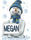 PERSONALIZED 2 SIDED  SNOWMAN T-SHIRT ALL SIZES!