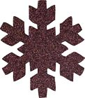 Die Cut GLITTER SNOWFLAKES (D) x 50 CHRISTMAS / WINTER for cardmaking, crafts