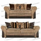 BRAND NEW BARCELONA  3+2 SEATER SOFAS - BEIGE AND BROWN / GREY AND BLACK