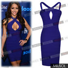 Ladies Celeb Sexy Blackless Club Wear Cut Out Bandage Bodycon Party Dresse 81024