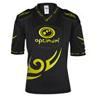OPTIMUM Tribal Rugby Body Protection Shoulder Pads - Black / Yellow