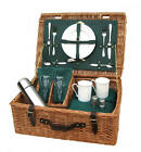 Traditional English Luxury Fitted Wicker Picnic Hamper Basket