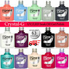 CRYSTAL-G UK Nails UV/LED Soak Off Varnish Gel Nail Polish  <br/> BUY 4 BOTTLES AND YOU WILL GET 2 FREE RANDOM COLOURS