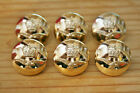 6x Gold Military RAF Crown & Bird Coat Jacket Blazer Cuff Buttons 17mm or 23mm
