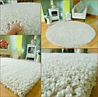 MODERN SMALL XX LARGE CREAM OATMEAL MIX THICK SOFT HEAVY QUALITY SHAGGY AREA RUG