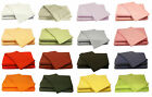 LUXURY Modern 68 Pick Polycotton Plain Dyed Fitted Sheet - FREE DELIVERY
