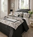 Catherine Lansfield Black Shrewsbury Embroidered Bedding and Acessories