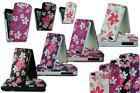 NEW STYLISH FLOWER FLORAL PRINT LEATHER FLIP CASE COVER FOR APPLE I PHONE 5 5S