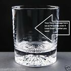 10oz Alaska Crystal Personalised Whisky Glass  upto 30 Letters gift box option