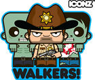 ICONZ CARTOON TEE SHIRT THE WALKING DEAD RICK GRIMES WALKERS BITERS SHERIFF