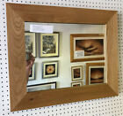 70mm FLAT SOLID OAK WALL AND OVERMANTLE MIRRORS- VARIOUS SIZES AVAILABLE