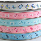 "5/8""  5Yard Mix Color Printed Grosgrain Ribbon DIY Baby Show Craft Sewing RB061"