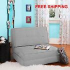 Fold Down Chair Flip Out Lounger Convertible Sleeper Bed Couch Game Guest Dorm