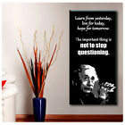 LARGE Canvas Albert Einstein Quote Inspiration poster Typography motivation art