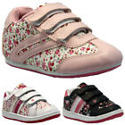 **NEW GIRLS KIDS SHOES PINK INFANTS VELCRO SCHOOL SKATE TRAINERS PUMPS SIZE 4-12