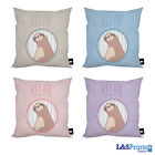 "SLOTH RELAX DESIGN IDEAL GIFT 18"" X 18"" CUSHION 4 COLOURS AVAILABLE"