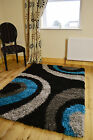SMALL EXTRA LARGE TEAL BLACK SILVER SOFT THICK HEAVY QUALITY  SHAGGY RUG MAT