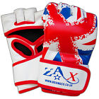 Rex Leather Grappling Gloves MMA Fight Gloves Boxing Punch Gloves UK FLAG