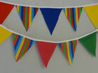 Green Bright Delight No Gaps Handmade fabric bunting 22 ft-6.5mtrs 44ft-13mtrs