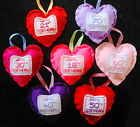 NEW HANDMADE HANGING HEART HAPPY BIRTHDAY 18TH 21ST 30TH 40TH 50TH 60,70,80,90th