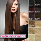 Clip In Remy 100% Human Hair Extension Full Color Free Shipping From UK