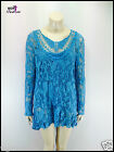 Lagenlook Crochet Top Tunic Mesh Quirky two Piece Italian Plus Size 9 Colours