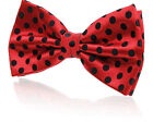 Red with Black Polka Dots Silk Jacquard Bow Tie (Pre-Tied & Self-Tie)