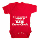 I HATE EXETER CHIEFS FUNNY BABY GROW - RUGBY BABY GROW BATH RUGBY SARACENS