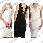 New Ladies Mesh Lace Insert Panel Sleeveless Womens Mini Bodycon Dress Long Top