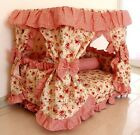 New Pastoral Princess Pet Dog Cat Handmade Bed House Red+Pillow S, M