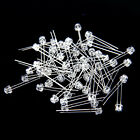 50pcs Pack 5mm Round top Straw Hat Clear Lens 2pin LED Light Emitting Diode EW