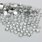 6MM 1000-10000 pcs clear sparkling Resin Rhinestone Flatback Crystal  14 Facets