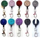 Retractable Rhinestone ID & Name Badge Holder Reel for pocket belts lanyards