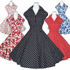 Maggie Tang 50s Polka Dot Retro VTG Housewife Pinup Rockabilly Swing Dress K-512