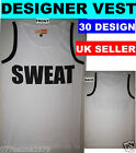 Mens Sleeveless fitted slim fit Gymwear Tank Top Vest Muscle Tee T shirt  D-6