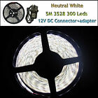 5M 3528 Day White 300 LEDs Waterproof Flexible Strip Lighting12V DIY Patry Car