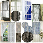 LACE PANELS with slot top, assorted vintage designs & colours *REDUCED TO CLEAR*