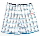 Speedo White & Blue Brief Lined Water Shorts Swim Trunks Boardshorts Mens NWT