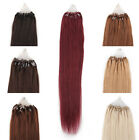 "Micro Ring Beads Tipped Remy Human Hair Extensions 18""20""22""24""X100g"