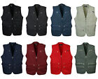 Mens 9 pockets safari shooting fishing work vest travel waistcoat photo jacket