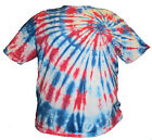 Red White and Blue Spiral Tie Dye Shirt Youth Sizes