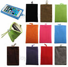 Washable Soft Velvet Cloth Pouch Sleeve Socks Case For iPhone 4 5 Note 2 3 S3 S4