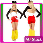 Ladies Minnie Mickey Mouse Fancy Dress Up Costume Halloween Disney outfit