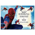 i21/blue Personalised Birthday party invitations invites 7th 8th 9th 10th 11th