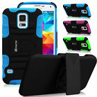 Dual Layer Holster w Belt Clip Case Stand Cover for Samsung Galaxy S5 SV SM-G900