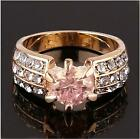 handsome appearan zircon cut crystal 18k gold filled lady shining ring size7,8,9