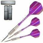 PURPLE JAGUARS NODOR TUNGSTEN DARTS SET + Spin Top Aluminium Stems + Flights