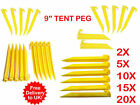 """CARAVAN & CAMPING TENT AWNING,STRONG  HEAVY DUTY CAMPING 9""""  PLASTIC TENT PEG"""