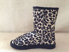 UGG Boots Classic Short Synthetic Wool Colour Black Leopard for Junior girl
