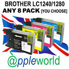 ANY 8 Ink Cartridges compatible with LC1240/1280—not Brother original